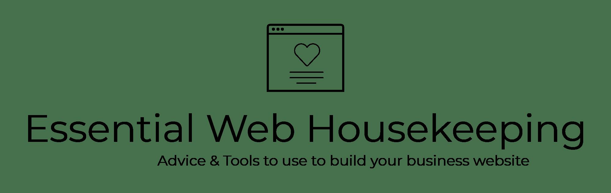 Website Housekeeping
